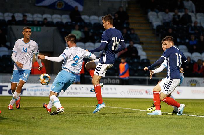 05.09.2019 Scotland u-21 v San Marino, European u-21 Championship 2021 Qualifying Round: Glenn Middleton scores goal no 2