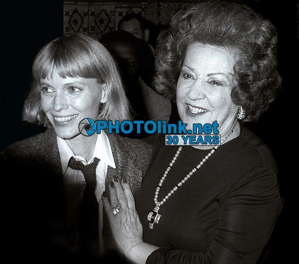 Mia Farrow Ethel Merman 1979<br /> Photo By John Barrett/PHOTOlink