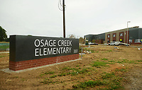 NWA Democrat-Gazette/BEN GOFF @NWABENGOFF<br /> A view of Osage Creek Elementary School Friday, July 14, 2017, under construction in Bentonville.