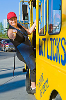 Alice Man welian serves home made ice cream in downtown Fairbanks for Hot Licks, a locally owned company who makes specialty ice cream.