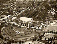 historical aerial photograph Union Station, Washington, DC, 1931