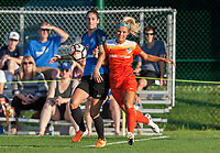 Kansas City, MO - Sunday July 02, 2017: Yael Averbuch, Rachel Daly during a regular season National Women's Soccer League (NWSL) match between FC Kansas City and the Houston Dash at Children's Mercy Victory Field.