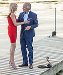 Anne and Steve<br /> Engagement Photography<br /> Tarrytown Waterfront, Sunset<br /> July 2, 2020