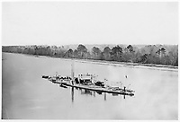 "U.S. Monitor ""Casco"" on James River, taken from a lookout tower on bank.<br /> <br /> Published 1861Ð65"