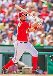 27 July 2013: Washington Nationals third baseman Ryan Zimmerman in action against the New York Mets at Nationals Park in Washington, DC. The Nationals defeated the Mets 4-1. Mandatory Credit: Ed Wolfstein Photo *** RAW (NEF) Image File Available ***