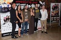 26.07.2012. Premier at Palafox Cinema in Madrid of the movie 'Impavido´, directed by Carlos Theron and starring by Marta Torne, Selu Nieto, Nacho Vidal, Carolina Bona, Julian Villagran and Manolo Solo. In the image Nacho Vidal, Marta Tome, Carlos Theron, Carolina Bona, Julian Villagran and Victor Clavijo (Alterphotos/Marta Gonzalez) /NortePhoto.com <br /> <br /> **CREDITO*OBLIGATORIO** *No*Venta*A*Terceros*<br /> *No*Sale*So*third* ***No*Se*Permite*Hacer Archivo***No*Sale*So*third*©Imagenes*con derechos*de*autor©todos*reservados*.