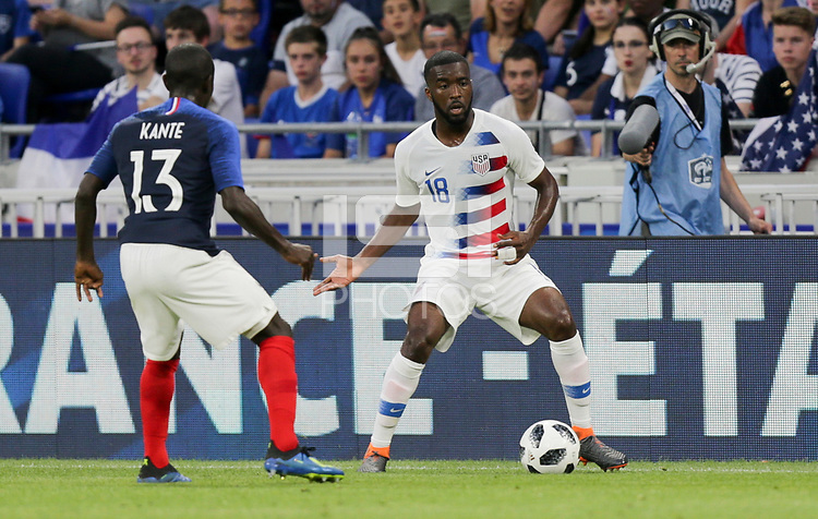 Lyon, France - Saturday June 09, 2018: Shaquell Moore during an international friendly match between the men's national teams of the United States (USA) and France (FRA) at Groupama Stadium.