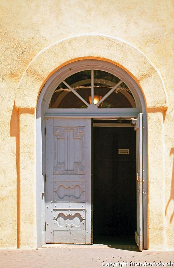 Church door. Taos? Photo 2000.