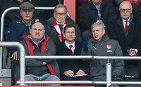 Arsenal Manager Arsene Wenger with Coach Jens Lehmann during the Premier League match between Bournemouth and Arsenal at the Goldsands Stadium, Bournemouth, England on 14 January 2018. Photo by Andy Rowland.