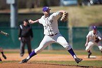 High Point Panthers starting pitcher Scot Hoffman (23) in action against the LIU-Brooklyn Blackbirds at Willard Stadium on March 8, 2015 in High Point, North Carolina.  The Panthers defeated the Blackbirds 9-0.  (Brian Westerholt/Four Seam Images)