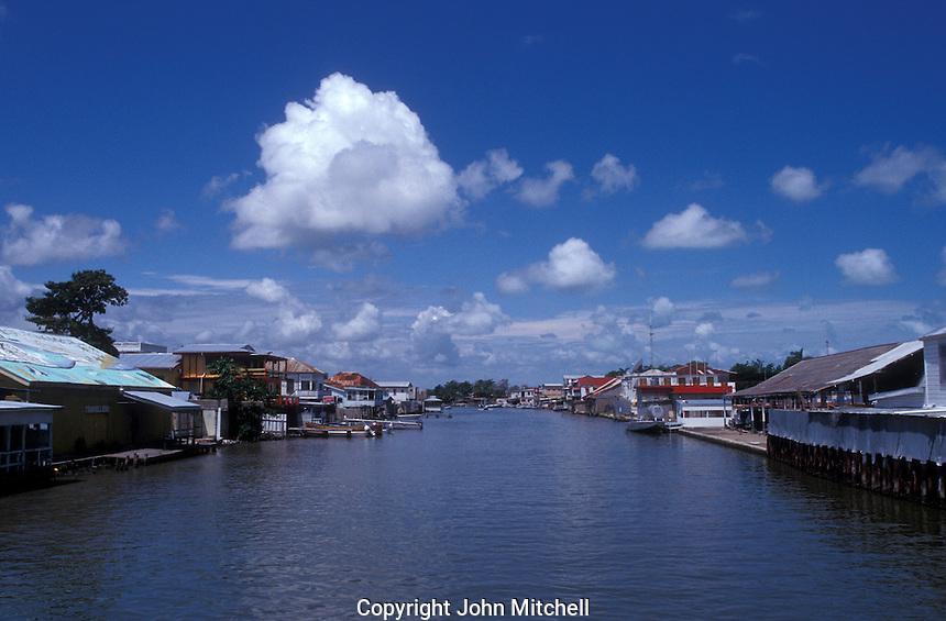 Haulover Creek in downtown Belize City, Belize