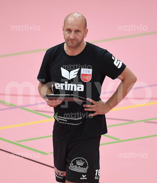 Volleyball 1. Bundesliga  Saison  2014/2015 Testspiel 10.09.2014 in Tuebingen TV Rottenburg  - SV Fellbach Trainer Hans Peter Mueller - Angstenberger (TV Rottenburg)