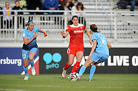 Boyds, MD - Saturday May 6, 2017: Erin Simon, Arielle Ship, Sarah Killion  during a regular season National Women's Soccer League (NWSL) match between the Washington Spirit and Sky Blue FC at Maureen Hendricks Field, Maryland SoccerPlex.