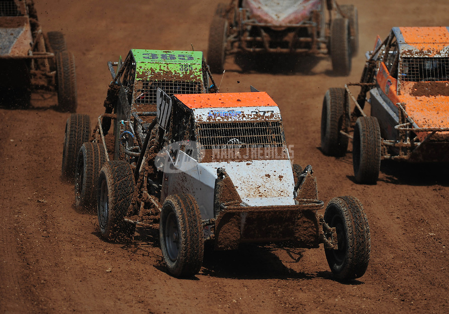 Mar. 19, 2011; Chandler, AZ, USA;  LOORRS limited buggy driver Quentin Tucker leads a group into turn 1 during round one at Firebird International Raceway. Mandatory Credit: Mark J. Rebilas-US PRESSWIRE
