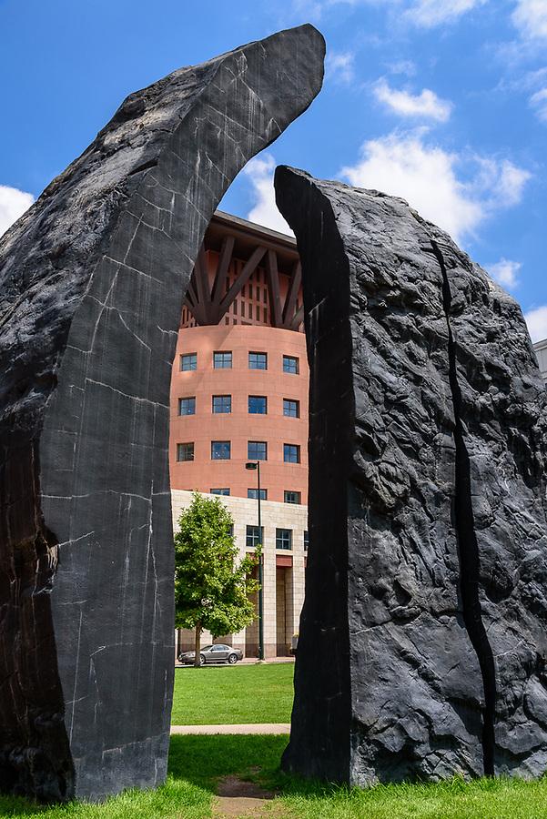 Denver Art Museum Sculpture & Denver Library