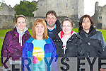Cecilia Lyons Listowel, Martina Flynn Currow, Paudie Daniel Farranfore, Magella Quinn Listowel and Mandy Piggot Listowel at the charity walk in aid of Crumlin Children's Hospital in Ross Castle Killarney on Saturday morning..