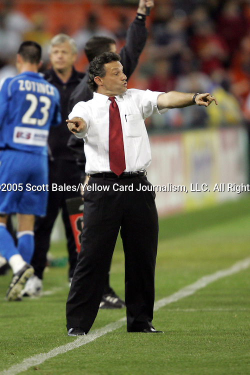 21 May 2005: DC United Head Coach Peter Nowak. DC United defeated the Kansas City Wizards 3-2 at RFK Stadium in Washington, DC in a regular season Major League Soccer game. .