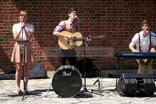 Old World Heritage, a local folk band from Lexington, plays a free concert at the Amphitheater on Saturday, August 24. | Photo by Adam Pennavaria