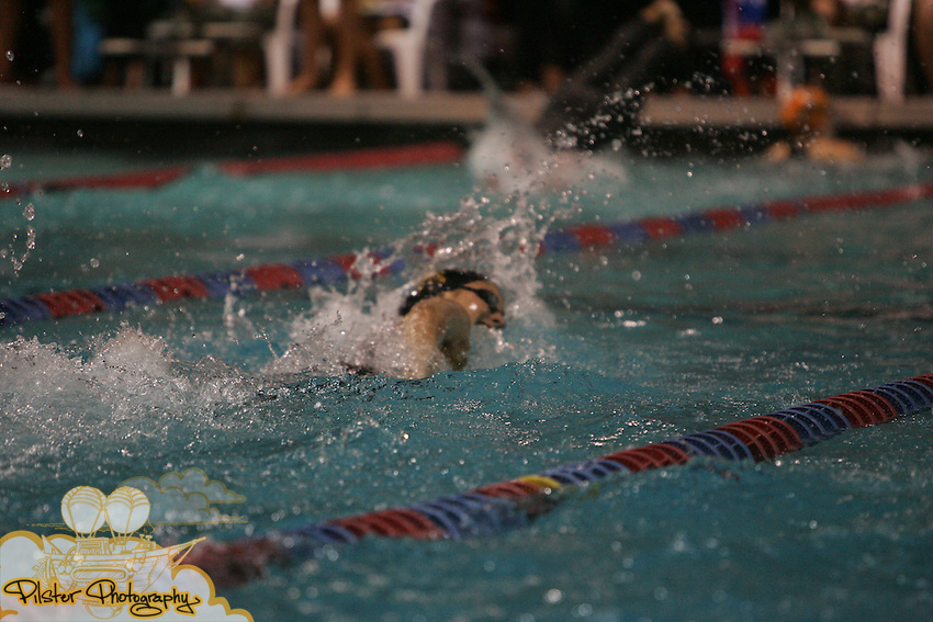 Bishop Verot's Erin Black starts the 400yd freestyle relay on Friday, November 14, 2008, during the class 1A FHSAA Swimming Finals at the YMCA Aquatic Center in Orlando. Bishop Verot finished 3rd with a time of 3:33.38. The team was made up of, in this order, Jillian Palmer, McKenzie Cassidy, Erin Black, and Stephanie Peacock. (Chad Pilster, PilsterPhotography.net)