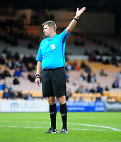 Referee Brett Huxtable<br /> <br /> Photographer Andrew Vaughan/CameraSport<br /> <br /> The EFL Sky Bet League Two - Port Vale v Lincoln City - Saturday 13th October 2018 - Vale Park - Burslem<br /> <br /> World Copyright © 2018 CameraSport. All rights reserved. 43 Linden Ave. Countesthorpe. Leicester. England. LE8 5PG - Tel: +44 (0) 116 277 4147 - admin@camerasport.com - www.camerasport.com