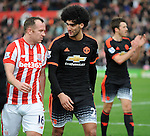 Marouane Fellaini of Manchester United and Charlie Adam of Stoke City at the end of the game<br /> - Barclays Premier League - Stoke City vs Manchester United - Britannia Stadium - Stoke on Trent - England - 26th December 2015 - Pic Robin Parker/Sportimage