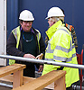 Boris Johnson <br /> Mayor of London attends Topping Out of Siemens sustainability centre in heart of Royal Docks Enterprize Zone. <br /> 26th October 2011 <br /> <br /> Boris Johnson <br /> Mayor of London <br /> <br /> Andreas J. Goss<br /> Chief Executive , Siemens plc &amp; North West Europe)<br /> <br /> Roland Busch (CEO, Infrastructure &amp; Cities Sector, Siemens AG)<br /> <br /> Sir Robin Wales<br /> May of Newham <br /> <br /> Photograph by Elliott Franks