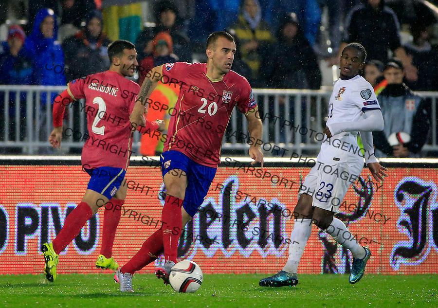 Fudbal, kvalifikacije za UEFA EURO 2016 qualifiers-Qualifying round - Group I<br /> Srbija v Portugal<br /> Petar Skuletic (C)<br /> Beograd, 11.10.2015.<br /> foto: Srdjan Stevanovic/Starsportphoto &copy;