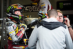 The rider Livio Loi in the box during the MotoGP Grand Prix Itala in Mugello, Florence. 30/05/2014. Samuel de Roman/Photocall3000.