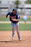 Minnesota Twins shortstop Royce Lewis (8) during a Minor League Spring Training game against the Tampa Bay Rays on March 17, 2018 at CenturyLink Sports Complex in Fort Myers, Florida.  (Mike Janes/Four Seam Images)
