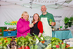 Enjoying Tralee Food Festival in the town Square on Saturday were Ann Houlihan,with Claire O'Connor, Manor Organic Store and Thomas O'Connor, Sweet Grass