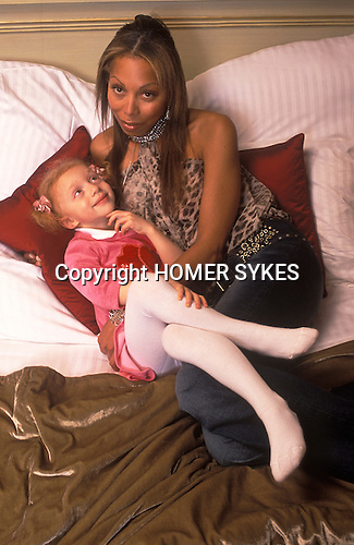 Anna Ermakowa celebrates her 4th birthday party ( 2004 ) in London England wither her mother. She is the Love Child daughter of German tennis star Boris Becker and former Russian waitress Angela Ermalowa / Ernakova after fumbled love making in a London restaurant broom cupboard