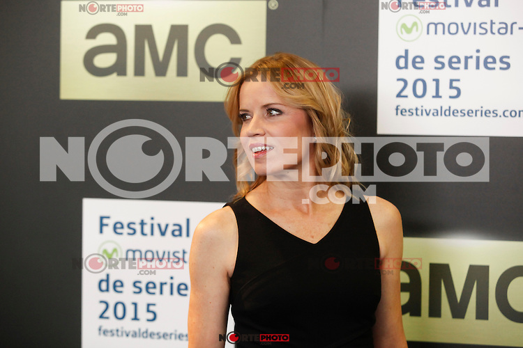 US actress Kim Dickens poses during the presentation of the `Fear the walking dead´ TV show in Madrid, Spain. November 13, 2015. (ALTERPHOTOS/Victor Blanco)