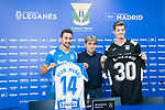 CD Leganes' news players Juan Muñoz (l) and Andre Grandi during his official presentation. July 09, 2019. (ALTERPHOTOS/Francis Gonzalez)