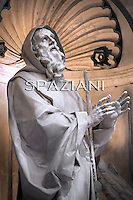 Statue of San Francesco di Paola St Peter's Basilica at the Vatican,Pope Benedict XVI during the vesper prayers for the Presentation of the Lord feast  at St Peter's Basilica at The Vatican. 02 February 2011