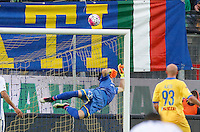 during the  italian serie a soccer match,between Frosinone and Inter      at  the Matusa   stadium in Frosinone  Italy , April 09, 2016