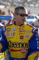 May 4, 2007; Richmond, VA, USA; Nascar Nextel Cup Series driver Bobby Labonte (43) during qualifying for the Jim Stewart 400 at Richmond International Raceway. Mandatory Credit: Mark J. Rebilas