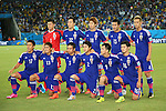 Japan team group line-up (JPN), <br /> JUNE 19, 2014 - Football /Soccer : <br /> 2014 FIFA World Cup Brazil <br /> Group Match -Group C- <br /> between Japan 0-0 Greece <br /> at Estadio das Dunas, Natal, Brazil. <br /> (Photo by YUTAKA/AFLO SPORT)