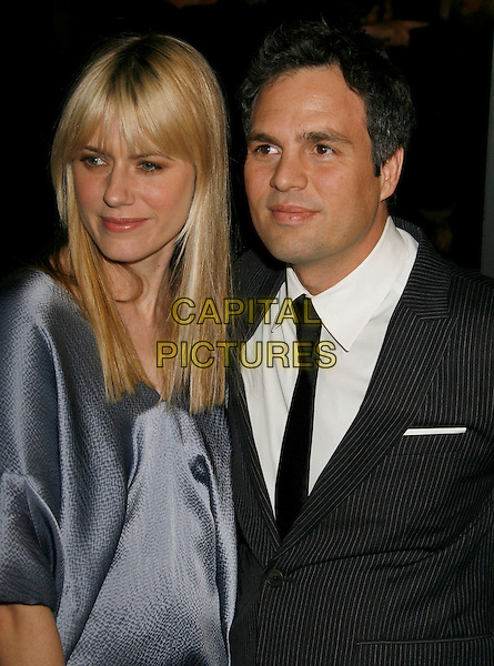"SUNRISE COIGNEY & MARK RUFFALO.""Zodiac"" Los Angeles Premiere held at Paramount Theatre, . Los Angeles, California, USA, 01 March 2007..half length  married husband wife .CAP/ADM/RE.©Russ Elliot/AdMedia/Capital Pictures. *** Local Caption *** ."
