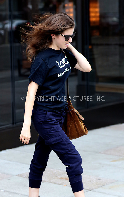 WWW.ACEPIXS.COM<br /> <br /> September 9 2015, New York City<br /> <br /> Actress Anna Kendrick walks in Soho on September 9 2015 in New York City<br /> <br /> By Line: Zelig Shaul/ACE Pictures<br /> <br /> <br /> ACE Pictures, Inc.<br /> tel: 646 769 0430<br /> Email: info@acepixs.com<br /> www.acepixs.com