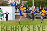 Darragh Coffey Beaufort celebrates his goal against  Milltown Castlemaine during the Mid Kerry final in Killorglin on Sunday
