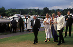 Henley Music Festival Henley on Thames Oxfordshire Oxon Wealth group of concert goers UK. 1990s