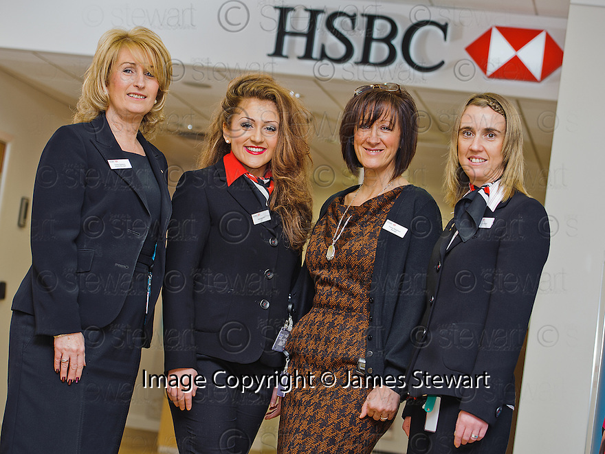 HSBC Falkirk :  Branch Manager, Fiona Dawson with some of her team.