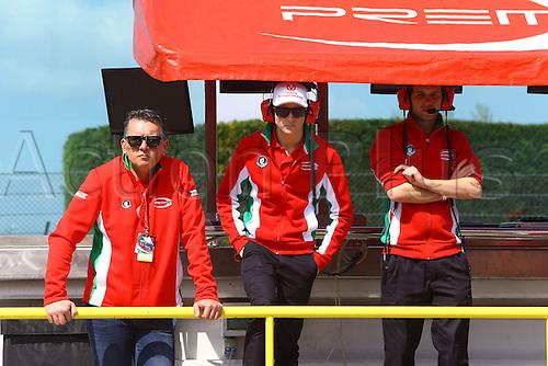 09.04.2016. Adria, Italy, Arbath F4 Grand Prix of Italy.  MICK SCHUMACHER (DEU) Prema Powerteam Arbath, F4 Italy with his technical team