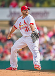 2 March 2013: St. Louis Cardinals pitcher Mitchell Boggs on the mound during a Spring Training game against the Washington Nationals at Roger Dean Stadium in Jupiter, Florida. The Nationals defeated the Cardinals 6-2 in their first meeting since the NLDS series in October of 2012. Mandatory Credit: Ed Wolfstein Photo *** RAW (NEF) Image File Available ***