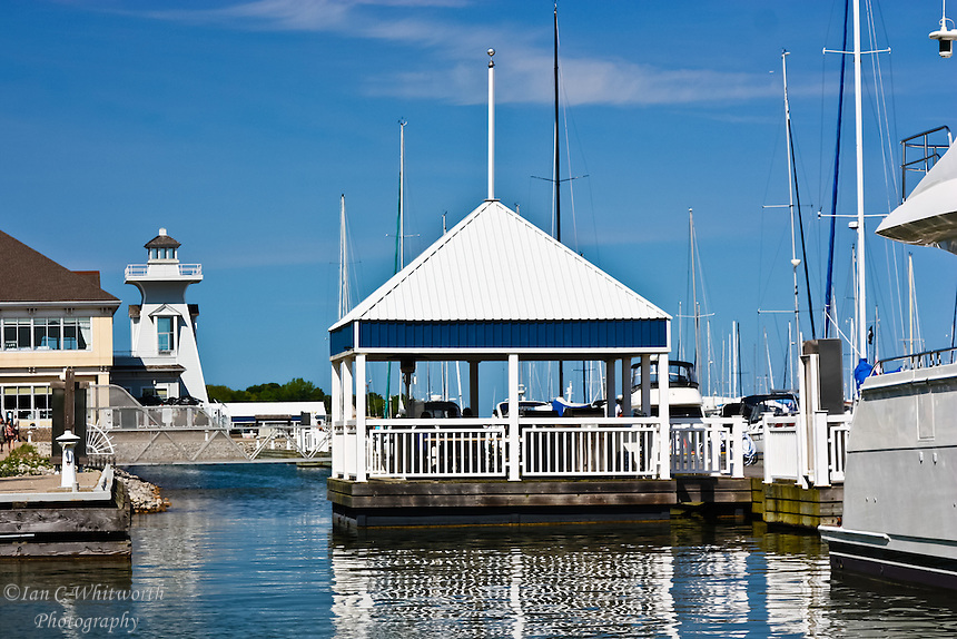 A view at the Oakville Bronte Harbour Marina