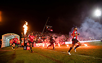 Crusaders run out onto the field before the 2018 Super Rugby final between the Crusaders and Lions at AMI Stadium in Christchurch, New Zealand on Sunday, 29 July 2018. Photo: Joe Johnson / lintottphoto.co.nz