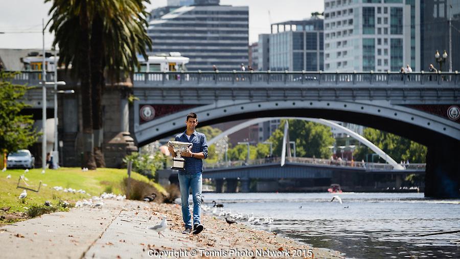 NOVAK DJOKOVIC (DRB)<br /> <br /> Tennis - Australian Open 2015 - Grand Slam -  Melbourne Park - Melbourne - Victoria - Australia  - 3 February 2015. <br /> &copy; AMN IMAGES