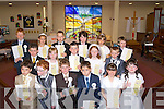 Pupils from Abbeydorney N.S who made their first holy communion in St Bernarde's Church, Abbeydorney on Saturday. Front l-r: Ruairi? Donovan, Ruariri Bartonhj, Dylan Duffy, Dylan Walsh, Caoimhe Spillane and Aislinn lawlor. 2nd row l-r: O?isi?n Maunsell, Niamh Vivier, Jack Sheehan, Niamh Kearney and  Michael O'Sullivan. Back l-r: Mickey Clifford, Elise McIneyre, marksyrimiham Kurowski, Se?an McElligott, Ava Peevers, Kyle Lyne Moynihan.  ...