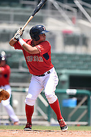 GCL Red Sox third baseman Rafael Oliveras (2) at bat during a game against the GCL Rays on June 25, 2014 at JetBlue Park at Fenway South in Fort Myers, Florida.  GCL Red Sox defeated the GCL Rays 7-0.  (Mike Janes/Four Seam Images)
