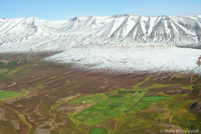 Garðar eyðibýli séð til austurs, Fnjóskárdalur,  Þingeyjarsveit  áður Hálshreppur / Gardar former farmsite viewing east. Fnjoskardalur, Thingeyjarsveit former Halshreppur